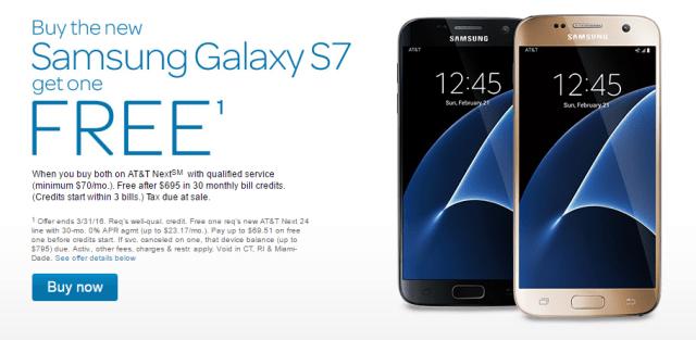 AT&T Display Pic Samsung Galaxy S7 Edge