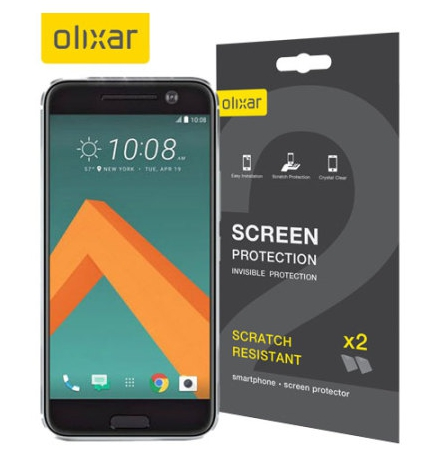 Olixar HTC 10 invisible screen protector