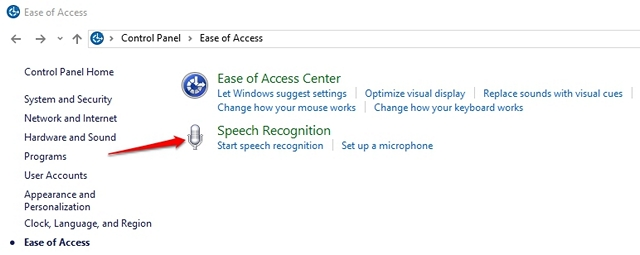 Windows 10 Speech Recognition