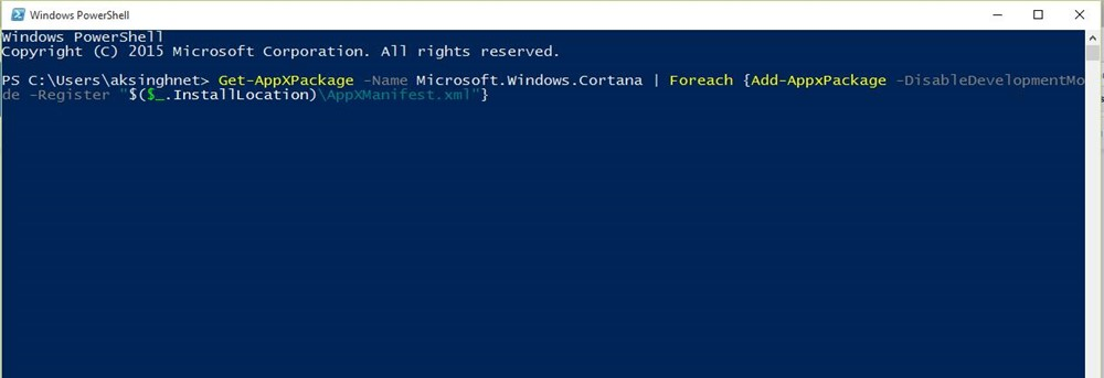 Windows Search не может найти никаких приложений