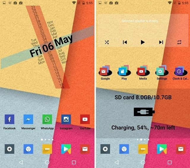 Flat Colorful Nova Launcher theme
