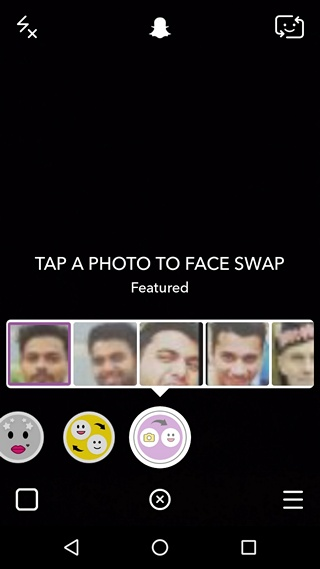 Snapchat Face Swap with Photos lens