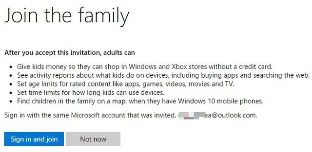 El niño de Windows 10 acepta la invitación