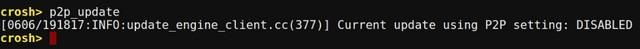 Chrome OS Crosh p2p command