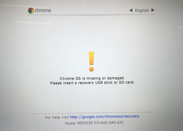 Modo de recuperación de Chrome OS
