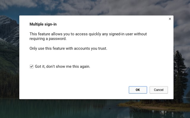 Chrome OS warning multiple users