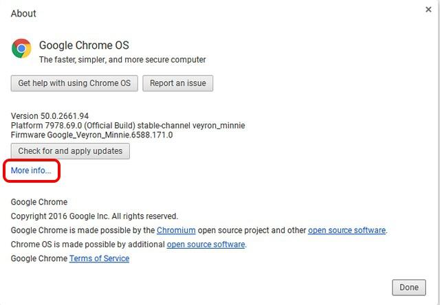 Chromebook More Info