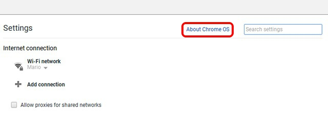 Chromebook Settings About Chrome OS