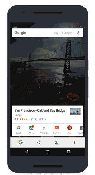 Google Now on Tap Camera search