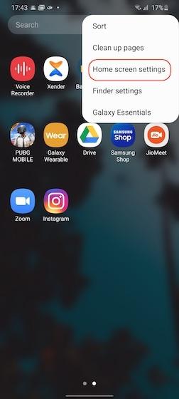 Verstecken von Apps auf Samsung 1