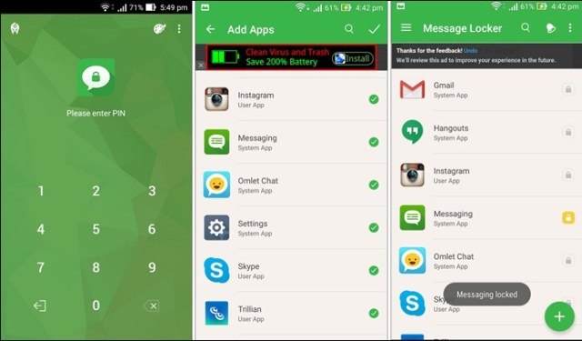 Message Locker for Android