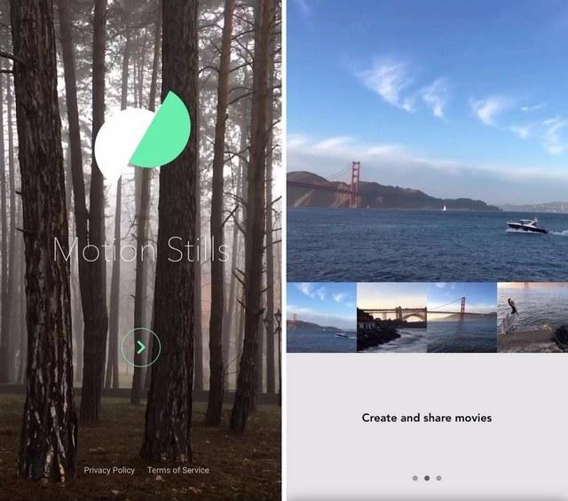 Bienvenida a la aplicación Motion Stills