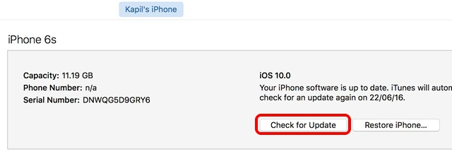 iTunes busca actualizaciones