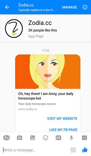 zodia-facebook-messenger-bot
