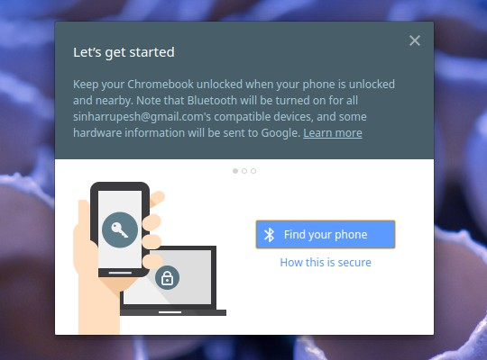 Chrome OS Smart Lock Setup Find Phone