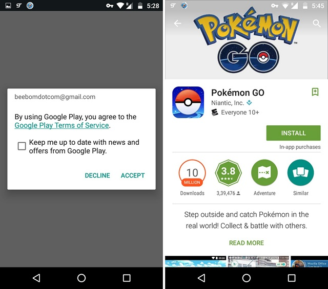 Install Pokemon Go From Play Store in any country