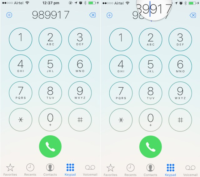 iOS 10 tricks edit dialled numbers
