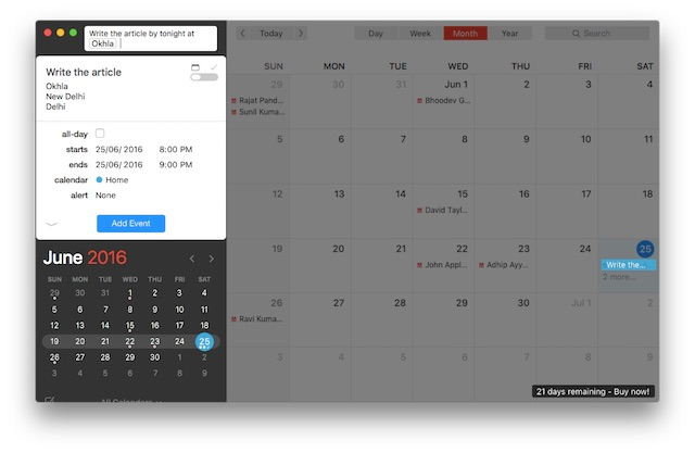 productivity on Mac fantastical2