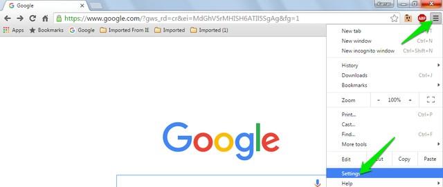 Chrome-Settings