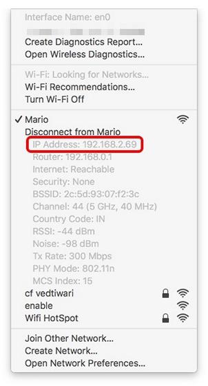 Dirección IP Mac