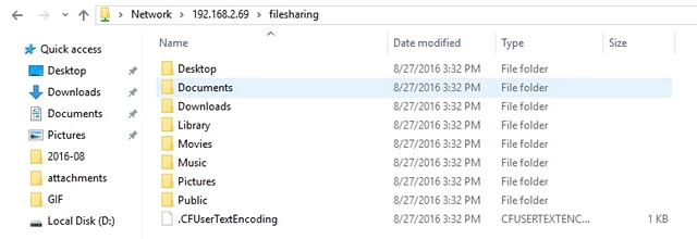 Archivos Mac compartidos en PC