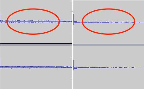 comparación de reducción de ruido