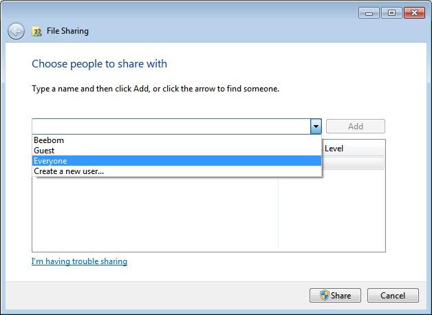 compartir archivos entre Mac y PC seleccionar a todos