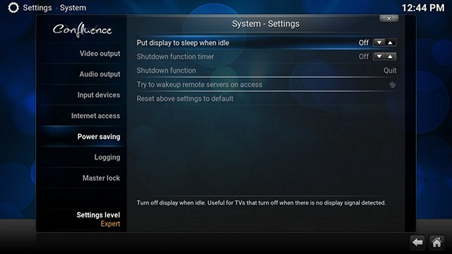Kodi System Settings