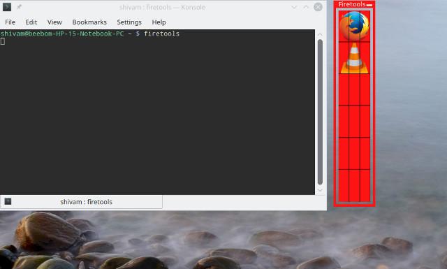 pantalla de herramientas de fuego