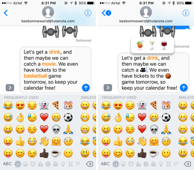 iMessage features emoji-suggestions