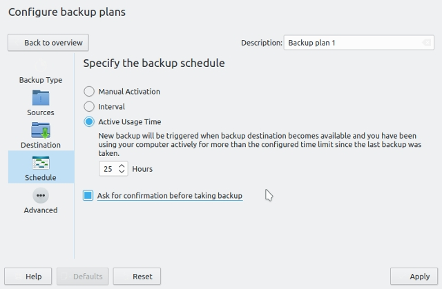 Linux-backup-software-kup