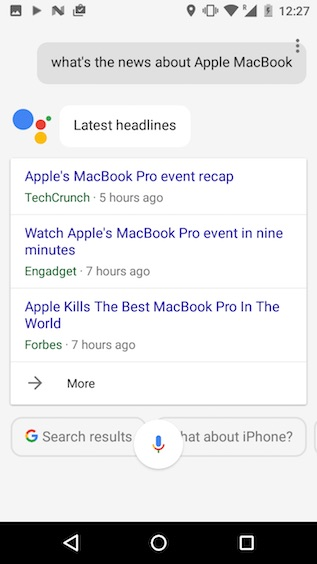 google assistant tricks whats the news about subject