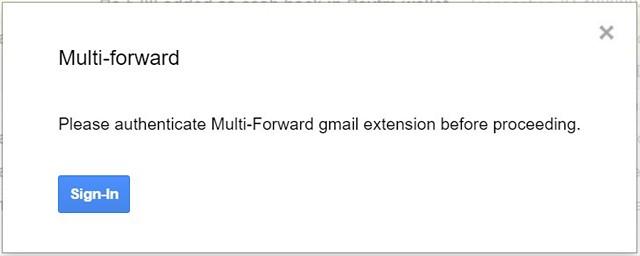 Authentifizieren-Multi-Forward-Google Mail