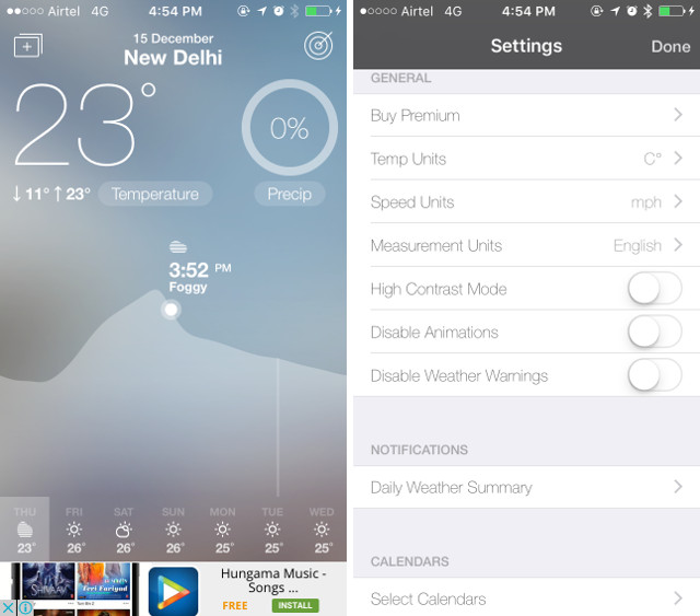 fresh air weather app for iPhone