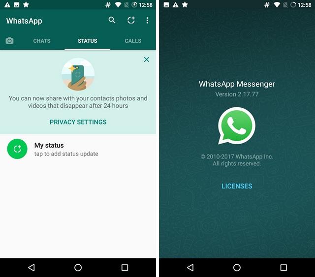 Nuevo estado y versión de WhatsApp