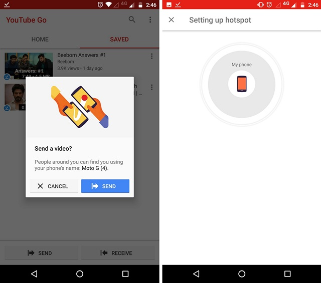 YouTube Go Offline Share