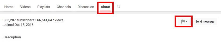 haga clic en el botón Acerca de y luego marcar