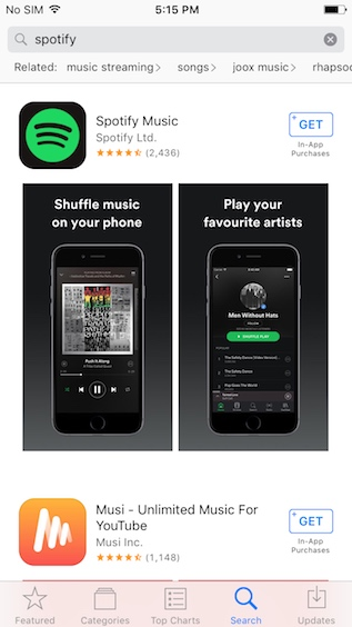 Once you've done that, you'll be able to download and use Spotify on your  iPhone.