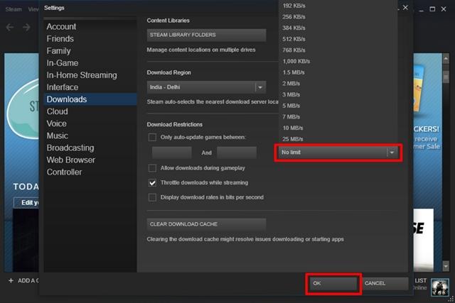 Steam Download Speed