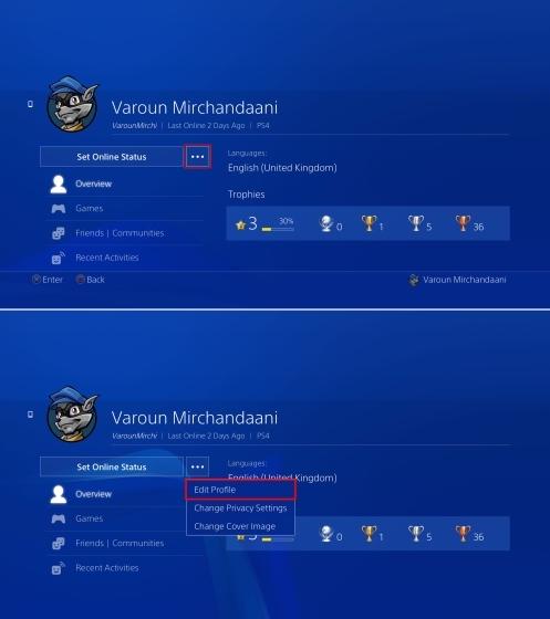 Profile Open PS4