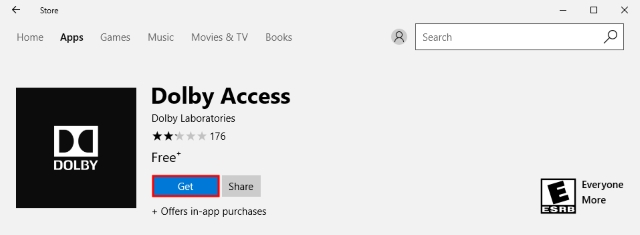 Dolby Access Windows Store