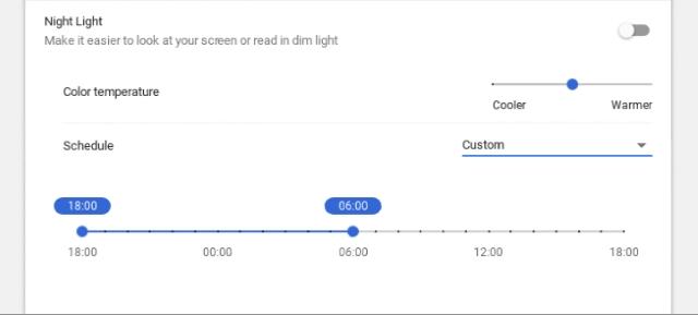 Night Light Temperature and Schedule