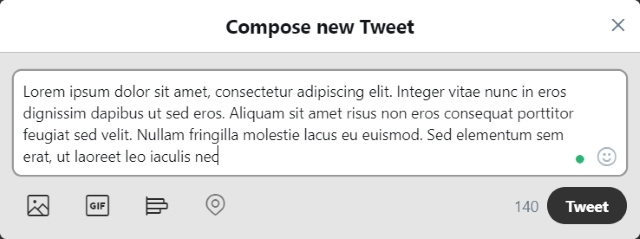 Compose 240 Character Tweets