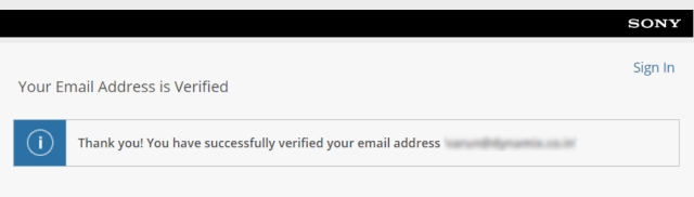 Email ID Verified