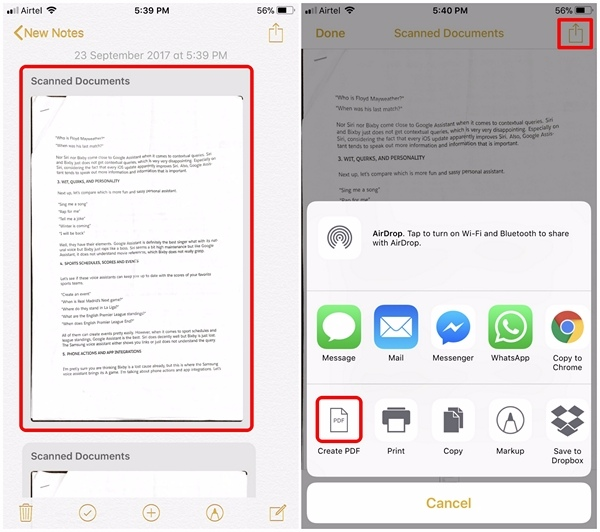 Scan Documents in iOS 11 - 4