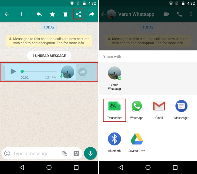 Select Voice Notes and Transcriber