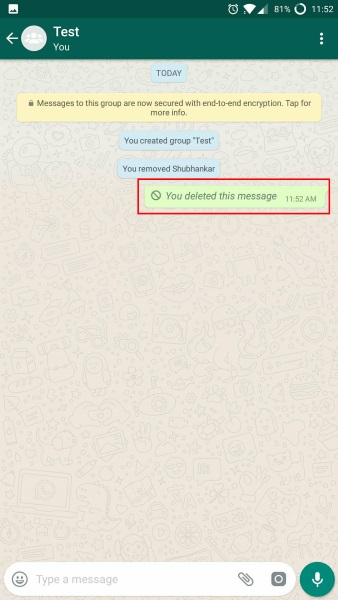 message deleted