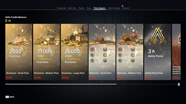 Assassins Creed Origins Microtransactions