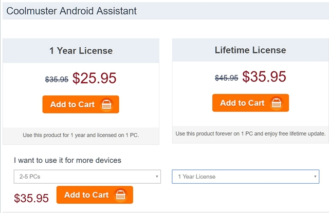 Coolmuster Android Assistant Pricing