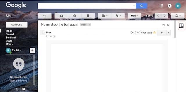 Verwenden Sie Google Mail-Add-Ons - Schritt 1